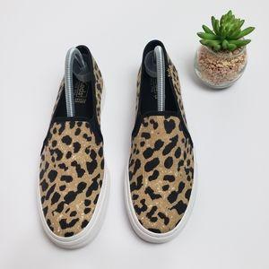 Keds Double Decker Leopard Print Slip On Sneakers